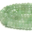 JADE GEMSTONES BEADS - JADE RONDELLES SOFT GREEN 6X4MM